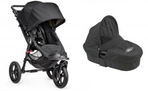 Wózek 2w1 Baby Jogger City Elite Single + Gondola Deluxe - Black