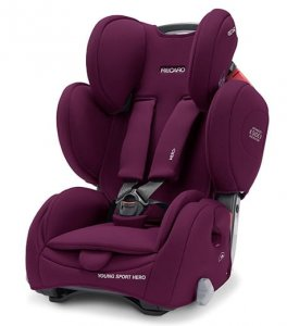 Fotelik RECARO Young Sport HERO Core 9-36 kg - Very Berry