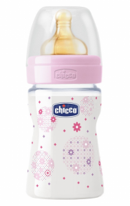 Chicco Butelka Plastikowa WELL-BEING 150 ML 0m+ Różowa