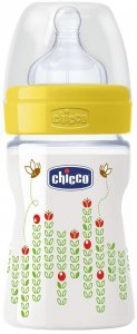 Chicco Butelka Plastikowa WELL-BEING 150 ML 0m+ Żółta