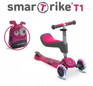 Hulajnoga Smart Trike Scooter T1 LED - Pink