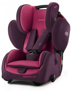 Fotelik RECARO Young Sport HERO 9-36 kg - Power Berry