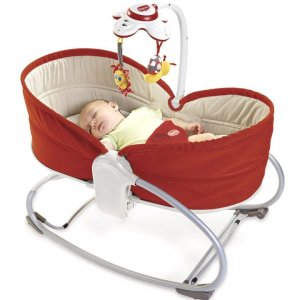 Leżaczek Tiny Love 3w1 Rocker Napper 0-18 kg - Red