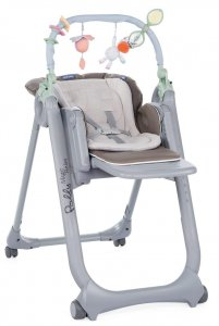 Krzesełko Chicco Polly Magic Relax 4-kółka - Dove Grey