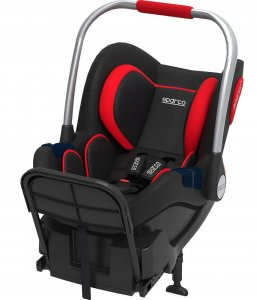 Fotelik SPARCO F300i  + Baza Isofix - Red
